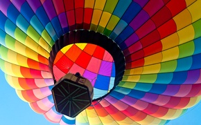 Picture the sky, flight, balloon, basket