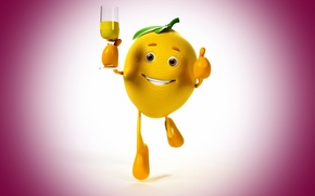 Picture look, smile, background, lemon, running, lemon, champagne, eyes, smile, background, champagne, running