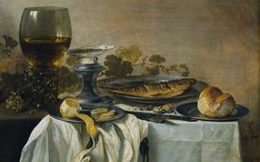 Wallpaper fish, glass, food, Still life, lemon, Peter., picture