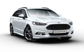 Picture Ford, white background, Ford, Mondeo, Mondeo