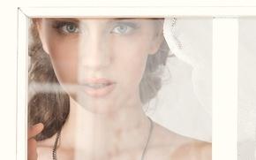 Picture eyes, look, glass, girl, face, model, playboy, window, lips, playboy, model, Nastya Zlobich, Nastya Zlobich