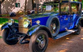 Wallpaper retro, car, blue