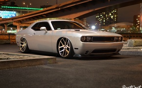 Picture Dodge, Challenger, bridge, Night
