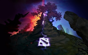 Wallpaper Clash of the Ancients, Loading, Dota 2, Screen