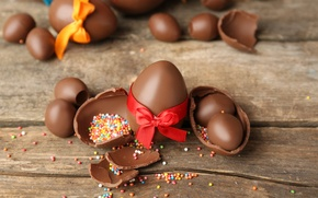 Picture chocolate, eggs, Easter, chocolate, Easter, eggs, decoration, Happy
