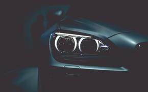 Picture car, auto, people, black, lights, black, Bmw, people