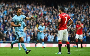 Picture football, manchester, Manchester, football, Mary, United, The Premier League, Sergio Aguero, Manchester City, united, Di …