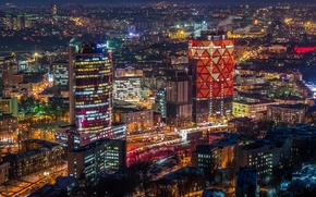 Picture home, Ukraine, street, Kiev, night city lights