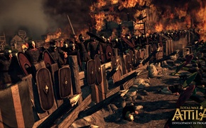 Picture fire, battle, defense, total war, strategy, the Romans, strengthening, total war, Barbara, creative assembly, attila