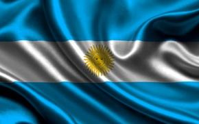 Picture The sun, Flag, Texture, Argentina, Argentina, Flag, The Argentine Republic