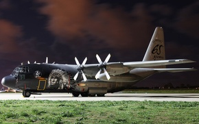 Wallpaper military transport, (CH-13), C-130, the plane, the airfield