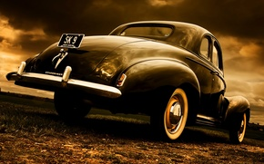 Picture style, retro, Coupe, Studebaker, 1940