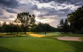 Picture field, landscape, Golf