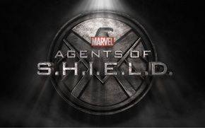Picture wall, logo, smoke, fog, Marvel, eagle, series, falcon, The Avengers, S. H. I. E. L. …