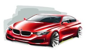 Picture BMW, BMW, white background, sedan, F30, Sedan, 3-Series