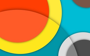 Picture Orange, Android, Circles, Blue, Design, 5.0, Line, Yellow, Colors, Gray, Lollipop, Stripes, Abstraction, Material, Hemicycle