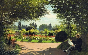 Picture Park, stay, picture, garden, Claude Monet