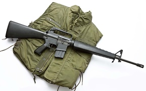 Picture weapons, rifle, weapons, American, M16, caliber, 56 mm, Susitna, jacket., in the 1960s g, adopted, …