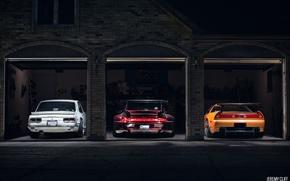 Picture Nissan Skyline, Acura NSX, RWB Porsche