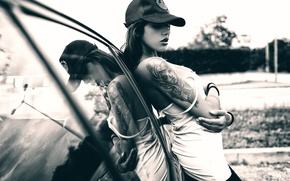 Picture auto, girl, tattoo, cap, giovanni zacche