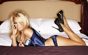 Wallpaper ass, model, bed, actress, blonde, pamela anderson