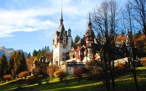 Wallpaper Romania, autumn, castle