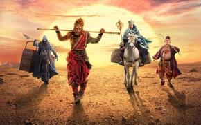 Picture China, cinema, gun, golden, gold, movie, bat, legend, asian, film, warriors, God, monk, mythology, chinese, …