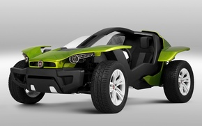 Picture background, the concept, green, the front, Fiat, FCC 2, Fiat