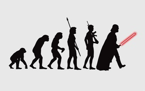Picture BACKGROUND, PEOPLE, SILHOUETTES, FIGURE, EVOLUTION