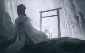 Picture calm, East, kimono, Hiraoka Masamune, composure, peace