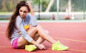 Picture pink, model, sporty, woan
