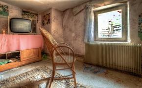 Picture room, TV, window