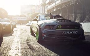 Picture Ford, Mustang, Ford Mustang, Monster Energy, Hawks, Gittin, Formula D