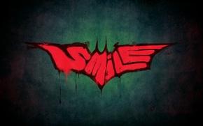 Picture style, joker, smile, batman, Batman, Joker