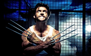 Picture x-man, wolverine, tip, actor, Wolverine, blade, male, hero, mutant, knives, claws, Hugh Jackman, hugh jackman
