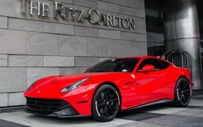 Picture Ferrari, Red, Berlinetta, F12