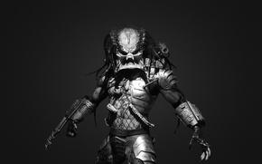 Picture fiction, black and white, predator, predator, anger