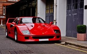 Picture Ferrari, red, F40, Ferrari, F40
