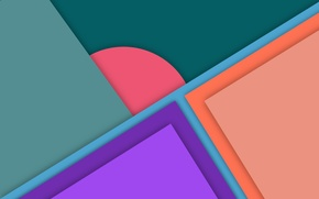 Picture line, green, pink, geometry, orange County, material, purple
