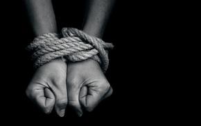 Picture hands, rope, bondage