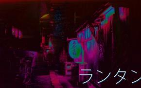 Picture Night, Street, Japan, Vaporwave, Glitch