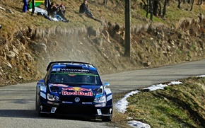 Picture Blue, Volkswagen, The front, Polo, Sebastien Ogier, FAS