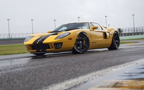 Picture Ford GT, yellow, HRE, RS105