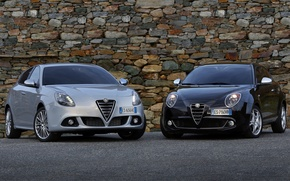Picture black, white, mixed, Alfa romeo