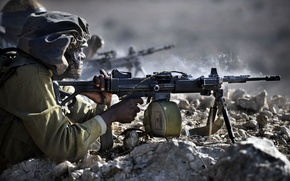 Picture army, soldiers, machine gun, Israel, Israel Defence Force, Israel, The IDF, IDF, The Negev, Zeal, …