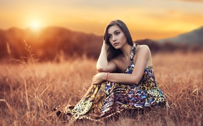Picture sunset, makeup, Alessandro Di Cicco, Slow Sunset