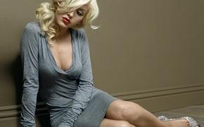 Picture look, reverie, dress, singer, Christina Aguilera, Christina Aguilera