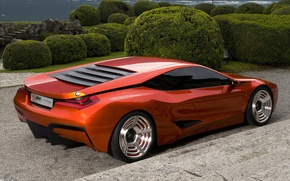 Wallpaper The bushes, BMW, M1 Hommage Concept, Oranzhevaya