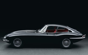 Picture retro, Jaguar, side view, E-type, 1961