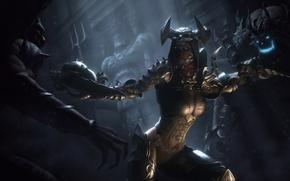 Picture girl, weapons, undead, Diablo III, Demon Hunter, Reaper of Souls